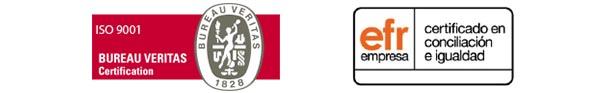 Certificados de Calidad ISO 9001 y EFR